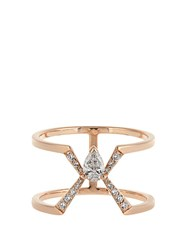 Raphaele Canot Deco Rocks Diamond And Rose Gold Ring