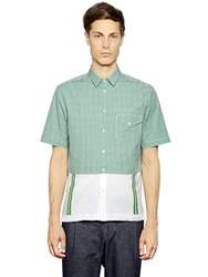 Antonio Marras Cotton Short Sleeve Shirt Green White