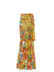Stella Jean Spinarello Printed Silk Fishtail Skirt