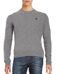 Brooks Brothers Cableknit Wool Sweater Grey