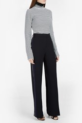 Msgm High Neck Ls Stripe Top Multi