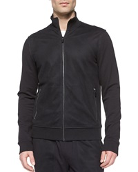 Michael Kors Full Zip Cotton Track Jacket Black