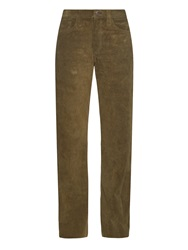 Simon Miller Bowman Wide Leg Suede Trousers