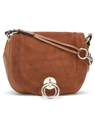 Diane Von Furstenberg Large Satchel Bag Brown