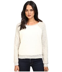 Splendid Loopine Lounge Sherpa Pullover Heather Natural Women's Clothing Gray