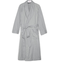 Emma Willis Cotton And Cashmere Blend Dressing Gown Gray