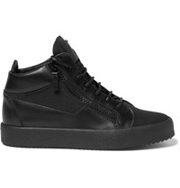 Giuseppe Zanotti Leather And Mesh High Top Sneakers Black