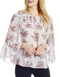 Jessica Simpson Wilma Printed Bell Sleeve Blouse Bouquet