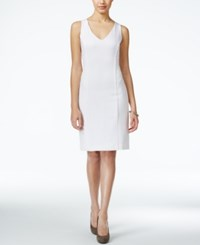 Xoxo Juniors' Sleeveless Faux Leather Inset Sheath Dress White
