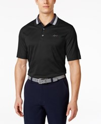 Greg Norman For Tasso Elba Men's Chevron Jacquard Polo Only At Macy's Deep Black