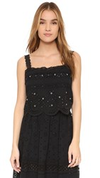 Marc By Marc Jacobs Broiderie Anglaise Top Black