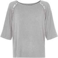 Soaked In Luxury Jumper With Lace Inserts Grey