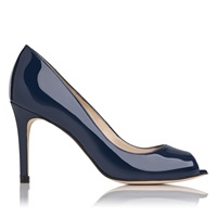 Lk Bennett Olympia Open Toe Court Shoes Navy