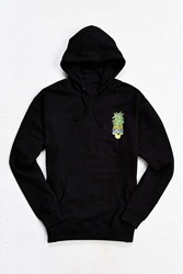 Urban Outfitters Pineapple Skull Hooded Sweatshirt Black