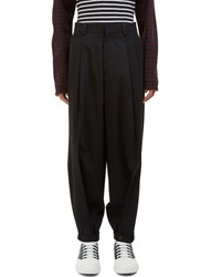 Marni Wide Strapped Cuff Pants Black