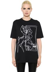 Givenchy Bambi Print Cotton Jersey T Shirt