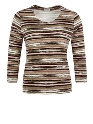 Eastex Waterstripe Jersey Top Multi Coloured