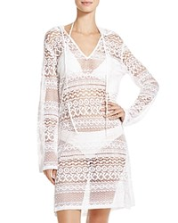 Boho Me Hooded Mini Dress Swim Cover Up White