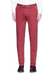 Canali Stretch Twill Chinos Red