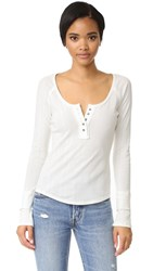 Free People Sugar And Spice Henley Ivory