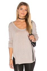Velvet By Graham And Spencer Camille V Neck Sweater Taupe