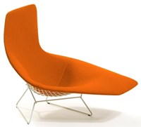 Knoll Bertoia Asymmetric Upholstered Chaise