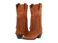 Roper 12 Stud And Fringe Boot Tan Crystal Stud Cowboy Boots Silver