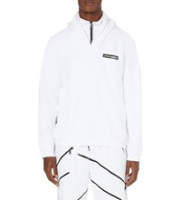 Nasir Mazhar High Neck Cotton Jersey Sweatshirt White