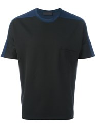 Diesel Black Gold Bicolour T Shirt Black