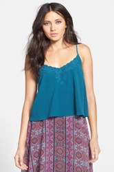 Astr Embroidered Camisole Juniors Blue