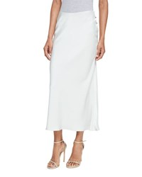 Calvin Klein Satin Midi Skirt Gray