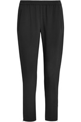 Stella Mccartney Tamara Stretch Crepe Tapered Pants Black