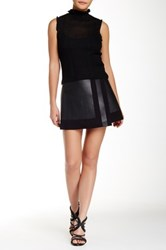 L.A.M.B. Faux Leather Wrap Skirt Black