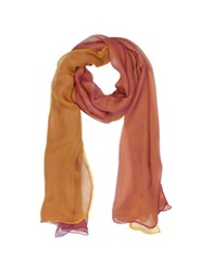 Laura Biagiotti Double Chiffon Silk Stole Sunset