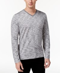 Alfani Men's Big And Tall Tri Color Long Sleeve T Shirt Only At Macy's Active Steel