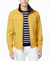 London Fog Men's Packable Stand Collar Jacket Yellow