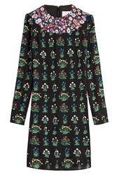 Valentino Embroidered Silk Georgette Dress Multicolor
