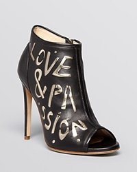 Jerome C. Rousseau Peep Toe Booties Passion High Heel