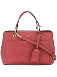 Dkny Front Pocket Tote Red