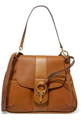 Chloe Lexa Medium Textured Leather Shoulder Bag Camel