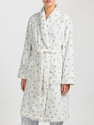 John Lewis Scatter Heart Print Shawl Collar Robe Ivory Grey