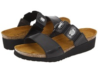 Naot Footwear Michele Black Madras Leather Women's Sandals