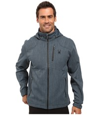 Spyder Patsch Novelty Soft Shell Jacket Union Blue Black Men's Jacket