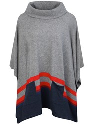 Seasalt Blustery Poncho Threadfin Grey Melange