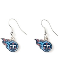 Aminco Tennessee Titans Logo Drop Earrings Team Color