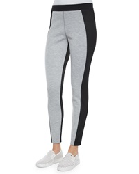 Elie Tahari Irene Two Tone Mesh Panel Leggings
