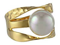 Majorica Ribbon 12Mm Rd Ring Gold White Ring Multi