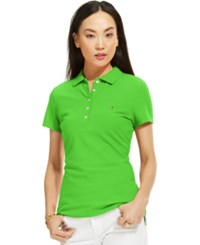 Tommy Hilfiger Solid Polo Top Barberry