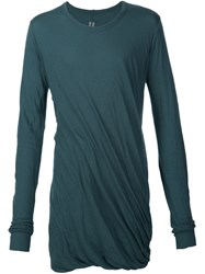Rick Owens Draped T Shirt Green