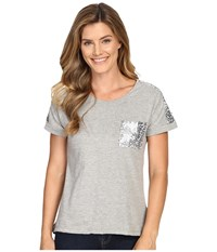 Rock And Roll Cowgirl Short Sleeve T Shirt 49T7250 Pale Grey Women's T Shirt Gray
